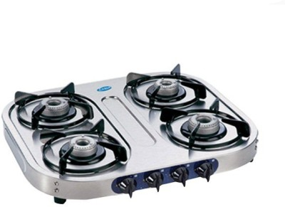 GLEN Glen GL-1044 SS-AL Gas Cooktop Stainless Steel Manual Gas Stove(4 Burners) at flipkart