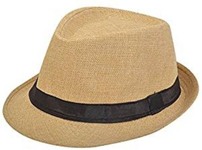Tahiro Beige Fidora Hat(Beige, Pack of 1)