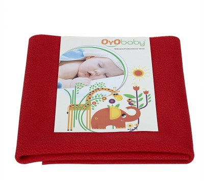 Oyo Baby Cotton Changing Mat Baby Care Sheet(Red, Small)