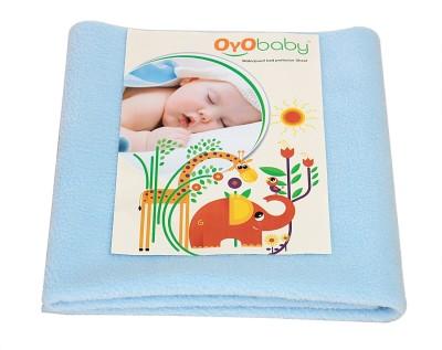Oyo Baby Cotton Changing Mat Baby Care Sheet(Light Blue, Medium)