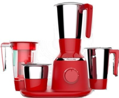 Butterfly SPECTRA 750 W Juicer Mixer Grinder (4 Jars, Red)