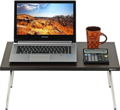 Bluewud Monroe Engineered Wood Portable Laptop Table(Finish Color - Wenge)