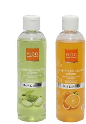 VLCC COMBO NOURISHING SILKY SHINE & DANDRUFF CARE CONTROL SHAMPOO