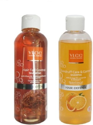 VLCC COMBO HAIR FALL CONTROL & DANDRUFF CARE CONTROL SHAMPOO PACK OF 2 *(350 ml) at flipkart