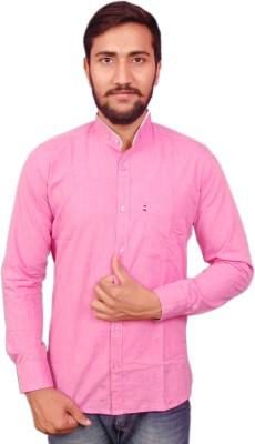 VINTAGE LOOK Men Solid Casual Pink Shirt