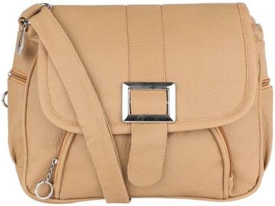 ELLI FASHION Women Beige PU Sling Bag  available at flipkart for Rs.298