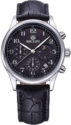Megir 5007-BLACK Executive Analog Watch For Boys