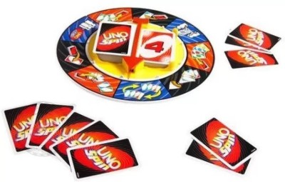Kanchan Toys UNO SPIN Wheel Card Family Board Game(Multicolor)  available at flipkart for Rs.485