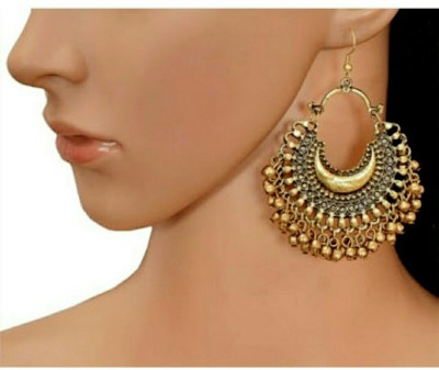 A M INTERNATIONAL High Class Golden Classy Antique Afghani Alloy Dangle Earring at flipkart