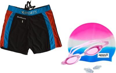 DeNovo Swim Cap Goggle Trunk  3XL Size  Swimming Kit