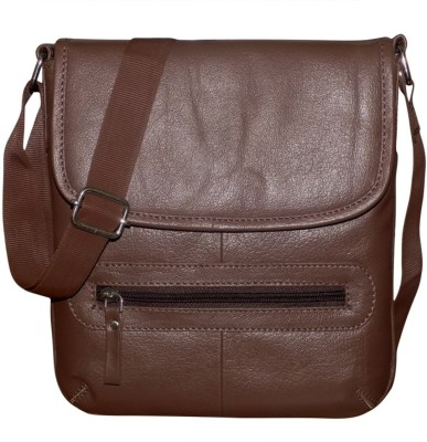 ae63219dc2d7 48% OFF on Kan Genuine Leather Travel Bag Sling Bag Travel Pouch Sling Bag  for Men   Women Small Travel Bag - Medium(Brown) on Flipkart