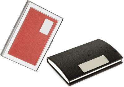 Billionbag Combo of 2 | Steel Red ATM Executive Silver ATM And 1 RED Case Steel ATM Red ATM 6 Card Holder (Set of 2) 6 Card Holder(Set of 2, Multicolor)