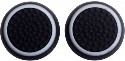 TCOS Tech Dual Color Thumb Grips Anti Slip Silicon Cap Cover  Gaming Accessory Kit(Black, White, For PS4, PS3, Xbox 360, Xbox One)  available at flipkart for Rs.199