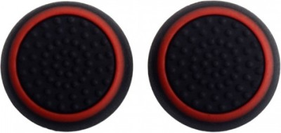 TCOS Tech Dual Color Thumb Grips Anti Slip Silicon Cap Cover  Gaming Accessory Kit(Black, Red, For PS4, PS3, Xbox 360, Xbox One)  available at flipkart for Rs.199