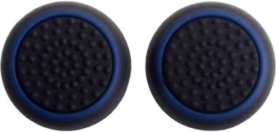 TCOS Tech Dual Color Thumb Grips Anti Slip Silicon Cap Cover  Gaming Accessory Kit(Black, Blue, For PS4, PS3, Xbox 360, Xbox One)  available at flipkart for Rs.199