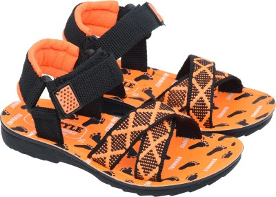 BUNNIES Boys Velcro Strappy Sandals(Orange)  available at flipkart for Rs.192