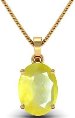 JAIPURFORU CERTIFIED YELLOW SAPPHIRE(Pukhraj) 13.70CTS OR 15.25 RATTI PANCHDHATU 22K Yellow Gold Sapphire Alloy Pendant at flipkart