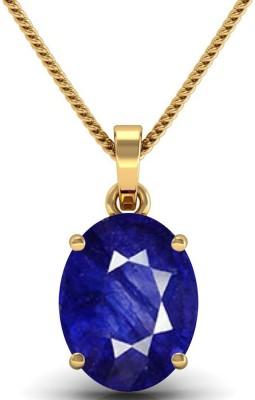 JAIPURFORU CERTIFIED BLUE SAPPHIRE(Neelam) 10CTS OR 11.25 RATTI PANCHDHATU 22K Yellow Gold Sapphire Alloy Pendant at flipkart