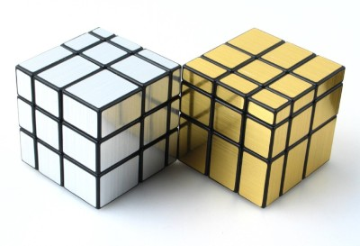 82 Off On Rubik S Challenge 3x3 Silver And Gold Mirror Cube Puzzle Pack Of 2 2 Pieces On Flipkart Paisawapas Com