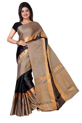 Taanshi Solid Fashion Silk Cotton Blend Saree(Multicolor)