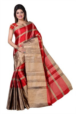 Vimalnath Synthetics Solid Fashion Silk Cotton Blend Saree(Multicolor)