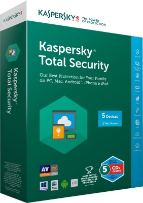 Kaspersky Total Security 2016 5 PC 1 Year (Multi-Device) at flipkart