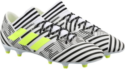 Adidas NEMEZIZ 17.3 FG Football Shoes(White) at flipkart