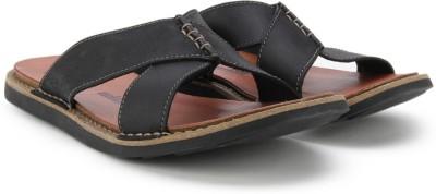 Clarks Lynton Easy Black Leather Flip Flops at flipkart