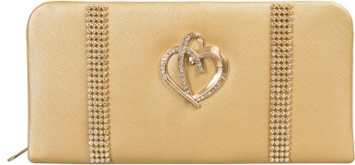 Louise Belgium Women Casual Gold  Clutch at flipkart