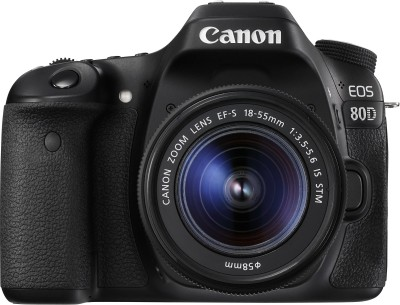 Canon EOS 80D DSLR Camera Body with Single Lens: EF-S 18-55 IS STM (16 GB SD Card)(Black)