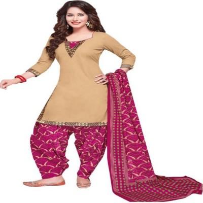 Nikshi Crepe Striped Salwar Suit Dupatta Material(Un-stitched)