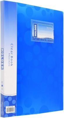 TRANBO Polypropylene Plastic Clear Book File Folder Display Presentation Book, 60 Pocket, A4 Size, Blue(Set Of 1, Blue)  available at flipkart for Rs.319