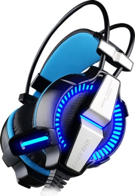 Kotion Each g7000 7.1channel usb Wired Headset(Black/Blue, Wired over the head)