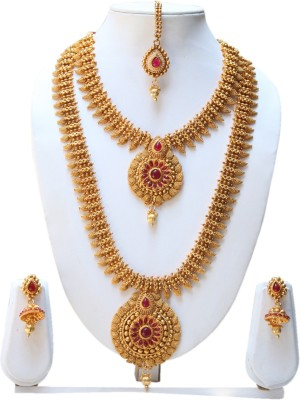 Swarajshop Copper Jewel Set(Gold) at flipkart