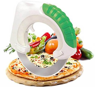 BonZeal Bolo Rolling Innovative Circular Knife Makes Slicing, Dicing and Mince and Well Protect Your Wrist Rolling Pizza Cutter(Steel) at flipkart