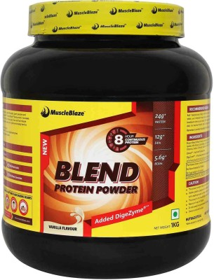 MuscleBlaze Blend Protein Powder Protein Blends(1 kg, Vanilla)