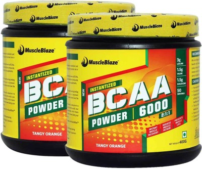 MuscleBlaze Instantized (pack of 2) BCAA(400 g, Tangy Orange)