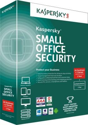 Kaspersky Small Office Security 20 PCs + 2 File Server + 20 Mobile Devices at flipkart