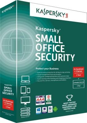 Kaspersky Small Office Security 25 PCs + 3 File Server + 25 Mobile Devices at flipkart