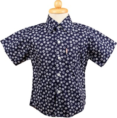 Yellow Bee Boys Printed Casual Shirt
