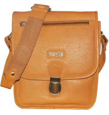 10e5005403f4 56% OFF on Kan Tan Genuine Leather Messenger Bag Sling Bag Backpack for Men    Women 7 L Backpack(Tan) on Flipkart