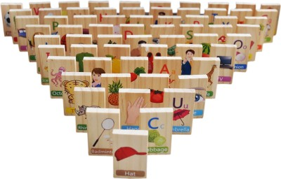 Trinkets & More - 100 Pieces English dominos Game Set | Alphabets Words Counting Stacking Sorting | Early Educational Toys Kids 3 + Years(Multicolor)  available at flipkart for Rs.1199