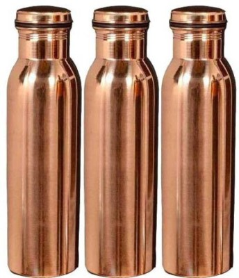 G MART. Copper Water Bottles Brown 1000 ml Flask(Pack of 3, Brown)  available at flipkart for Rs.1269