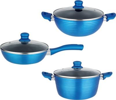 NIRLON Aluminium Kitchenware Induction Bottom Cookware Set(Aluminium, 3 - Piece)