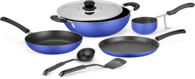 Ideale Non Stick Cookware Set of 7 Cookware Set(Aluminium, 7 - Piece) at flipkart