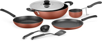 Ideale Ideale Non Stick Cookware Set of 7 Cookware Set(Aluminium, 7 - Piece) at flipkart