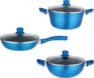NIRLON Non-Stick Aluminium Kitchenware Induction Bottom Cookware Set(Aluminium, 3 - Piece)