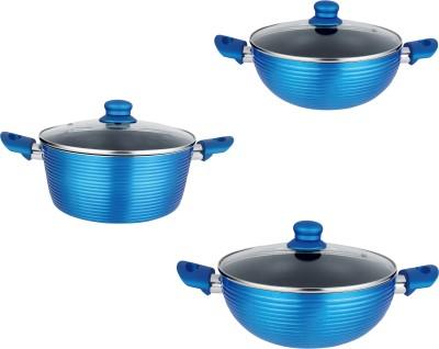 NIRLON Kitchen Cookware Induction Bottom Cookware Set(Aluminium, 3 - Piece)