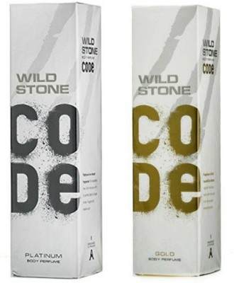 Wild Stone Platinum And Gold Combo Pack 2 Body Spray  -  For Men(240 ml, Pack of 2)