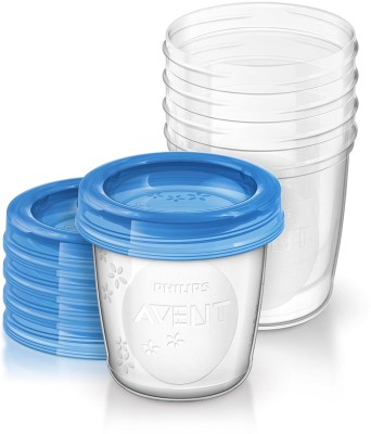 Philips AVENT Breast Milk Storage Cups, 6 Ounce (Pack of 5)(Pack of 5, Clear)  available at flipkart for Rs.1336